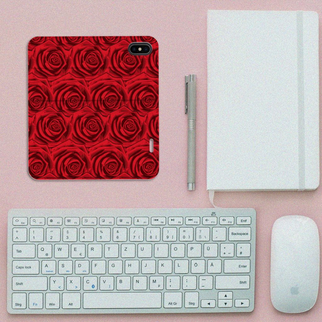 Apple iPhone X | Xs Smart Cover Red Roses