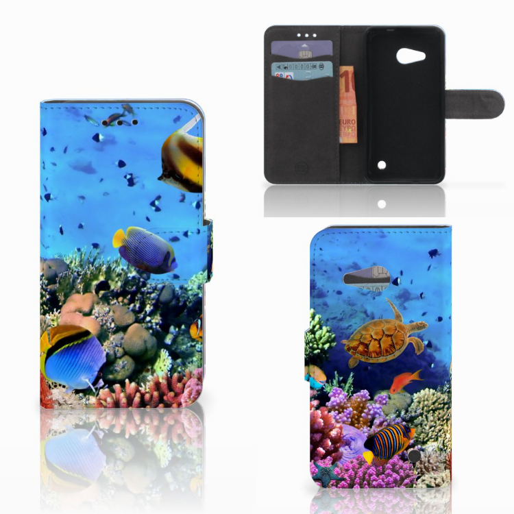 Microsoft Lumia 550 Telefoonhoesje met Pasjes Vissen