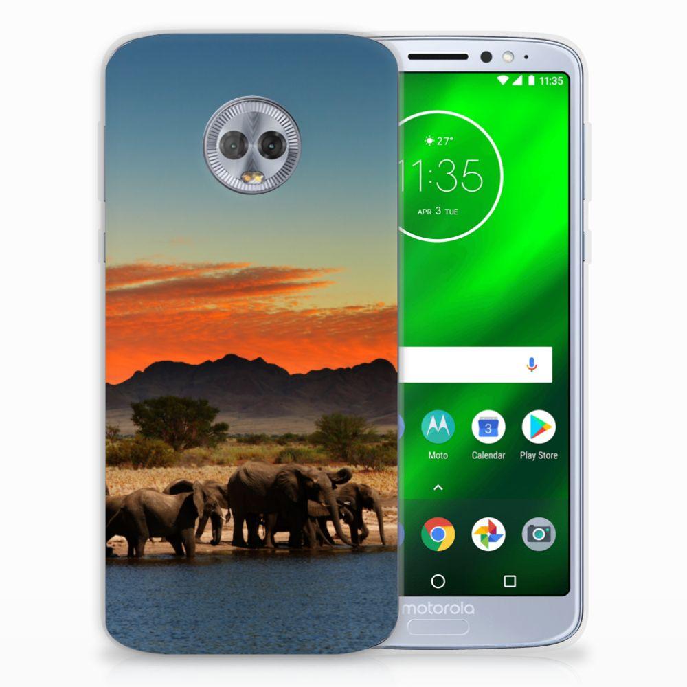 Motorola Moto G6 Plus TPU Hoesje Olifanten