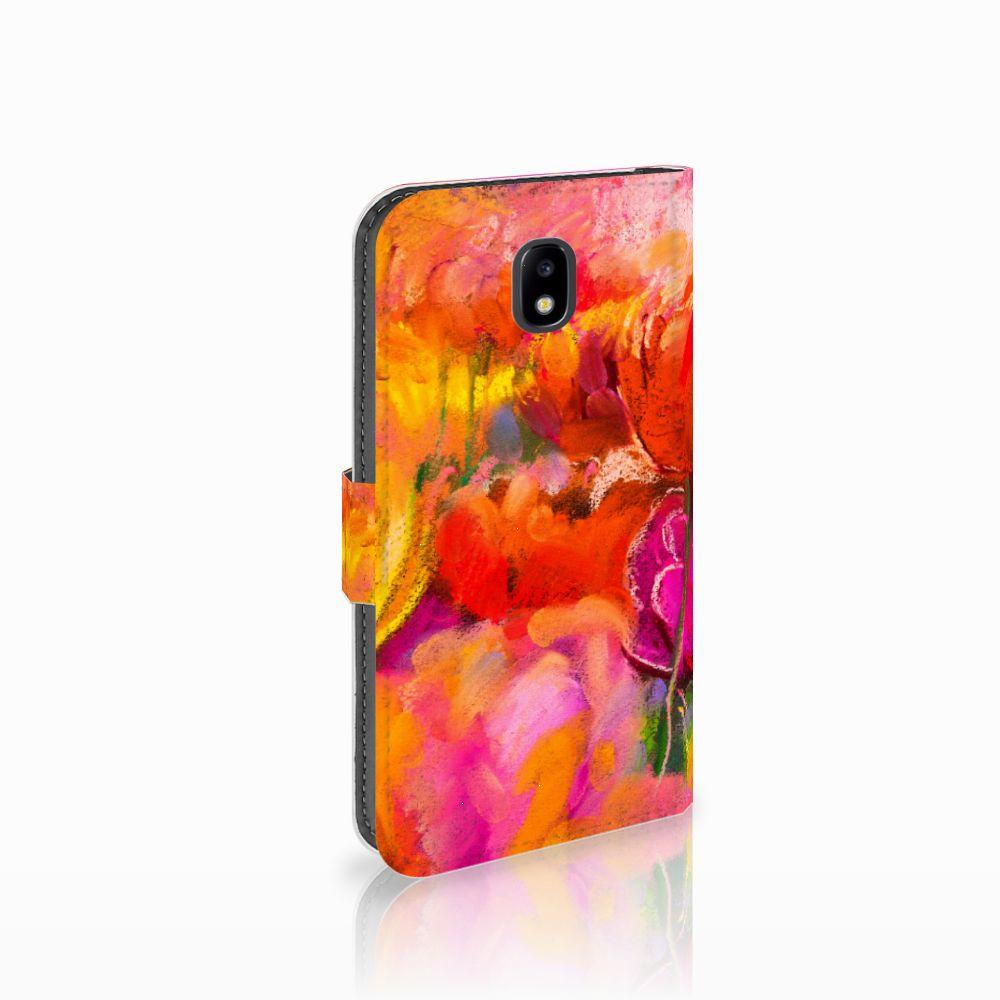 Samsung Galaxy J5 2017 Boekhoesje Design Tulips