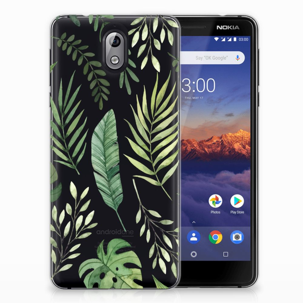 Nokia 3.1 (2018) TPU Case Leaves