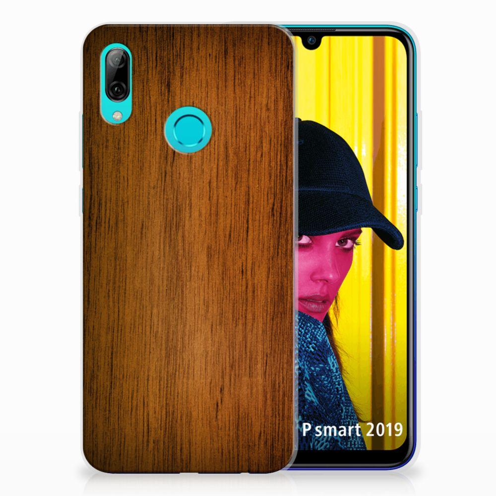 Huawei P Smart 2019 Bumper Hoesje Donker Hout