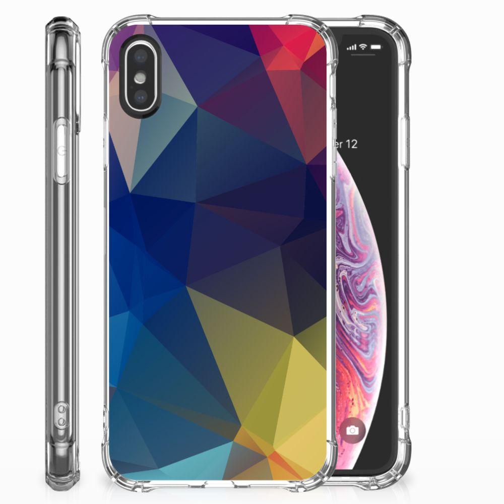 Apple iPhone X | Xs Shockproof Case Polygon Dark