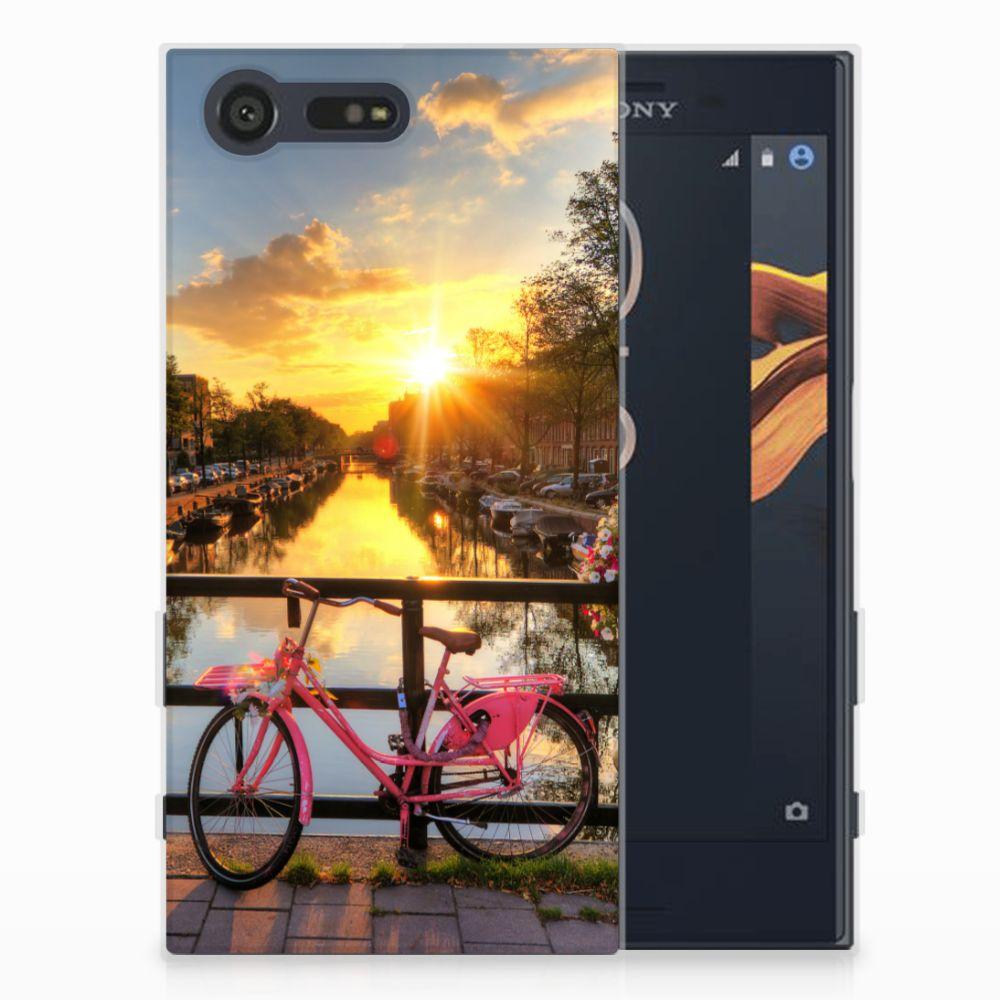 Sony Xperia X Compact Uniek TPU Hoesje Amsterdamse Grachten
