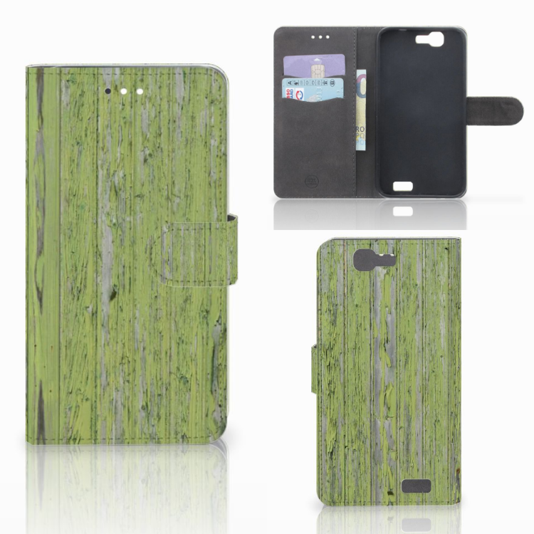 Huawei Ascend G7 Book Style Case Green Wood