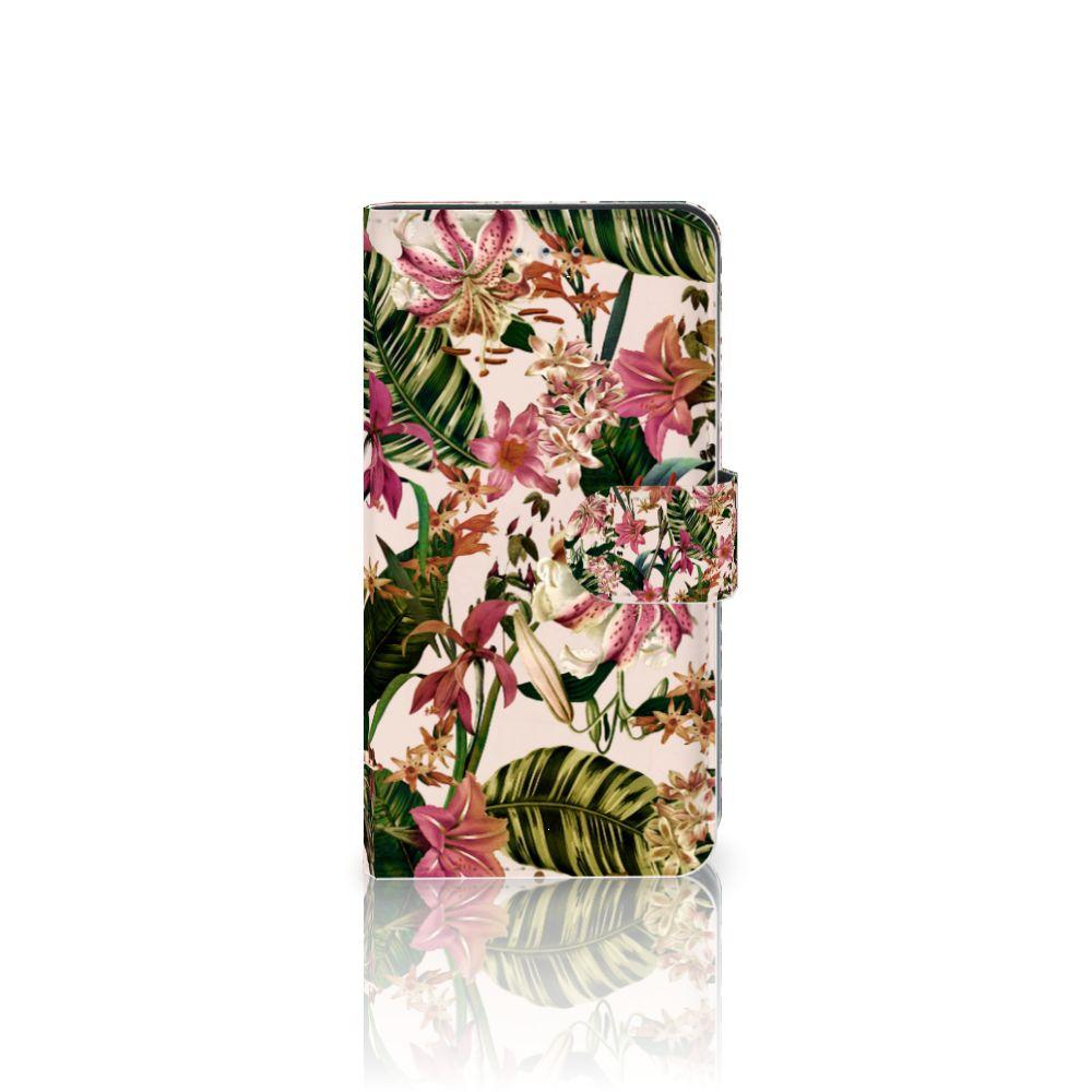 Samsung Galaxy J4 2018 Uniek Boekhoesje Flowers