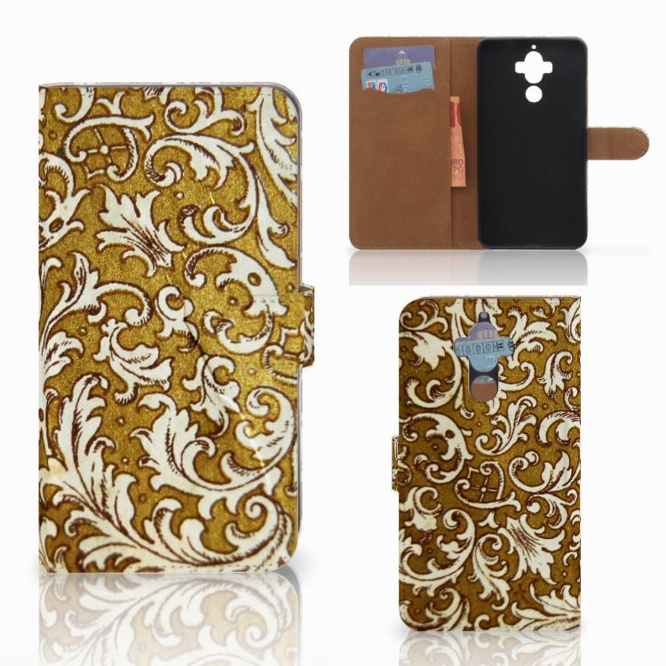 Wallet Case Huawei Mate 9 Barok Goud