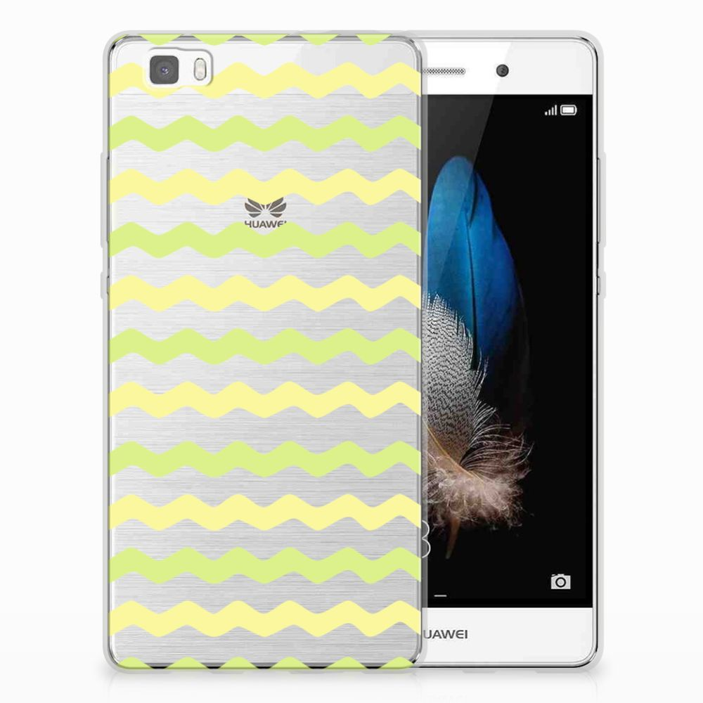 Huawei Ascend P8 Lite TPU bumper Waves Yellow