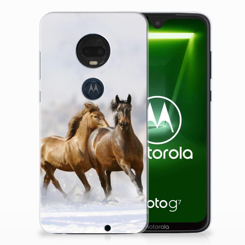 Motorola Moto G7 | G7 Plus Leuk Hoesje Paarden