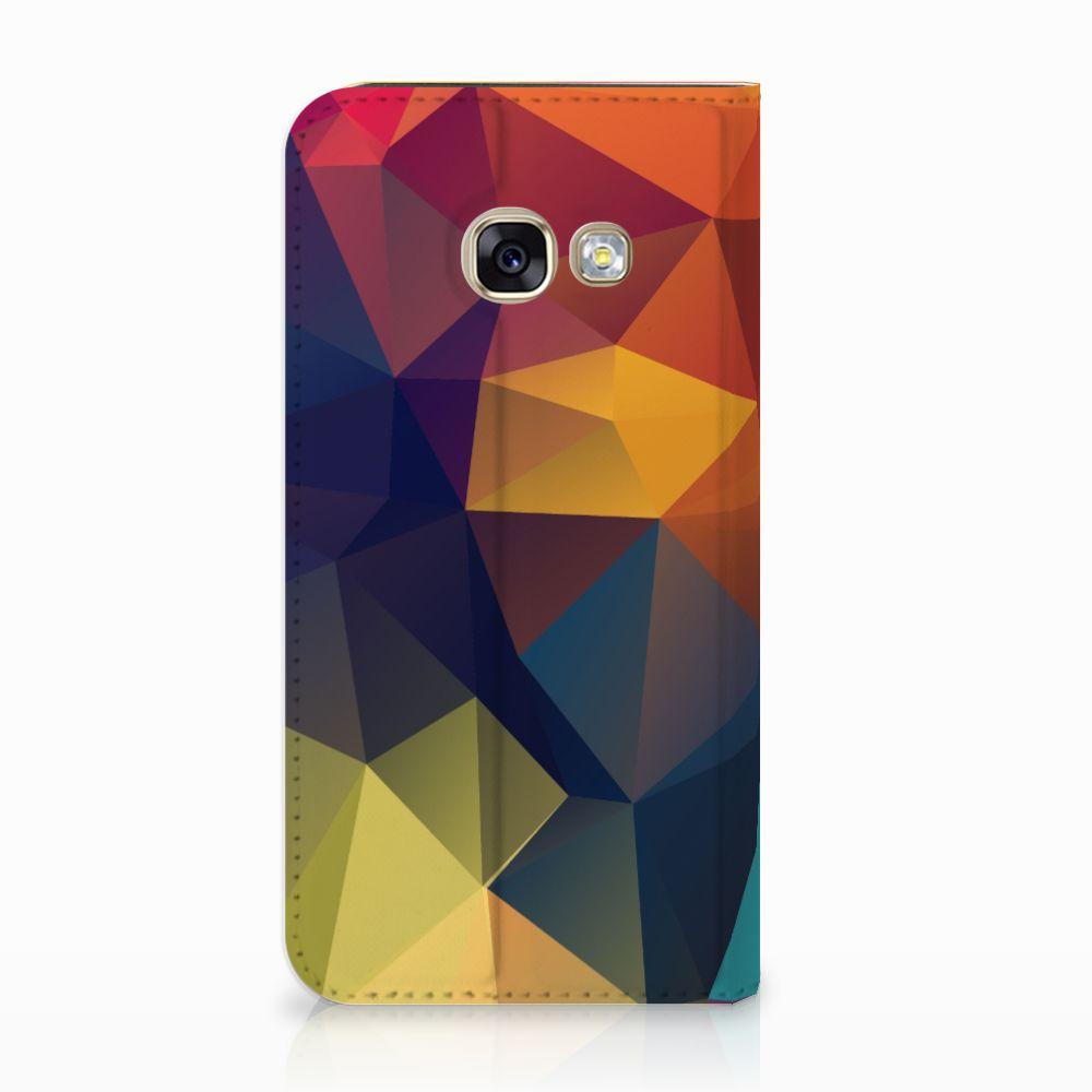 Samsung Galaxy A3 2017 Stand Case Polygon Color