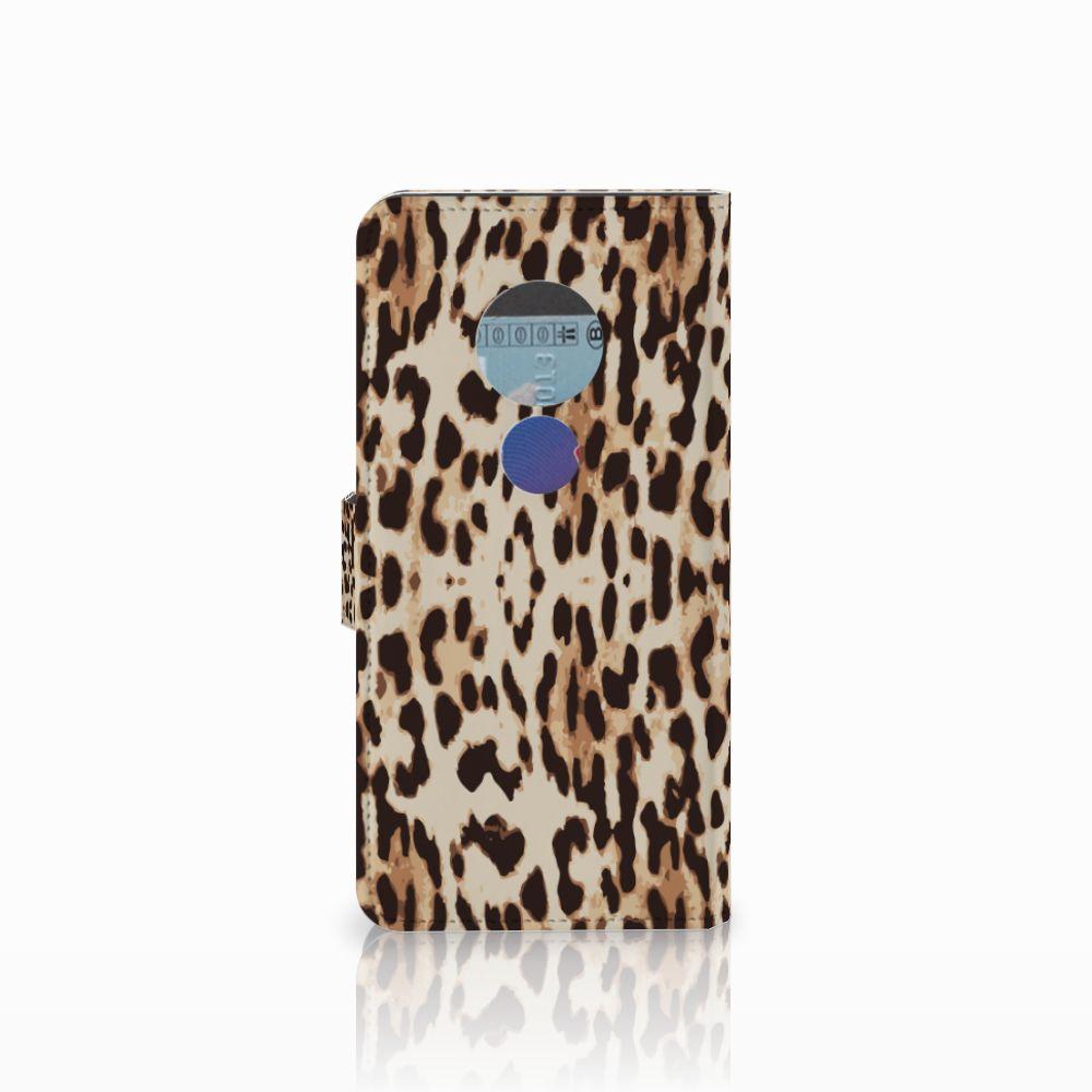 Motorola Moto E5 Telefoonhoesje met Pasjes Leopard