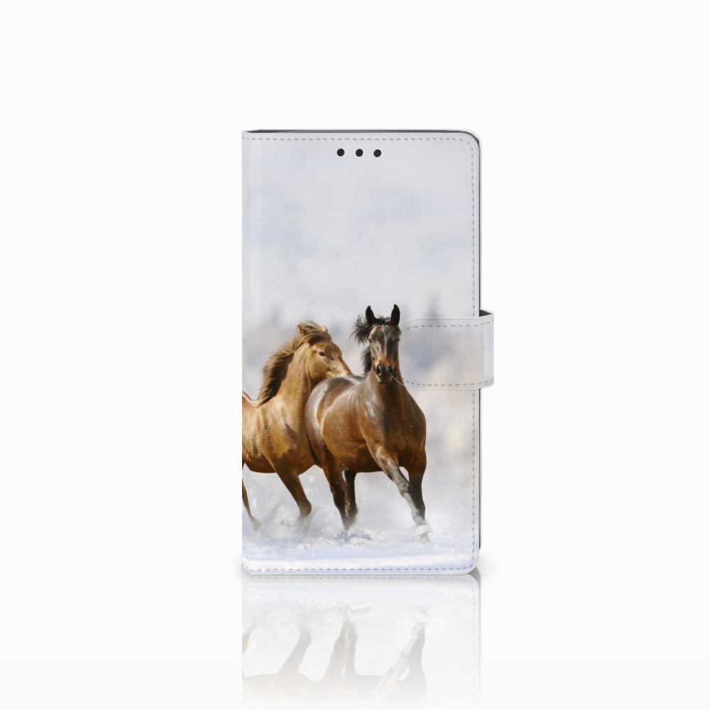 Sony Xperia XA2 Ultra Uniek Boekhoesje Paarden