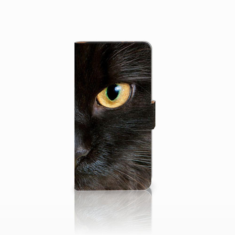 Wiko Lenny 3 Uniek Boekhoesje Zwarte Kat