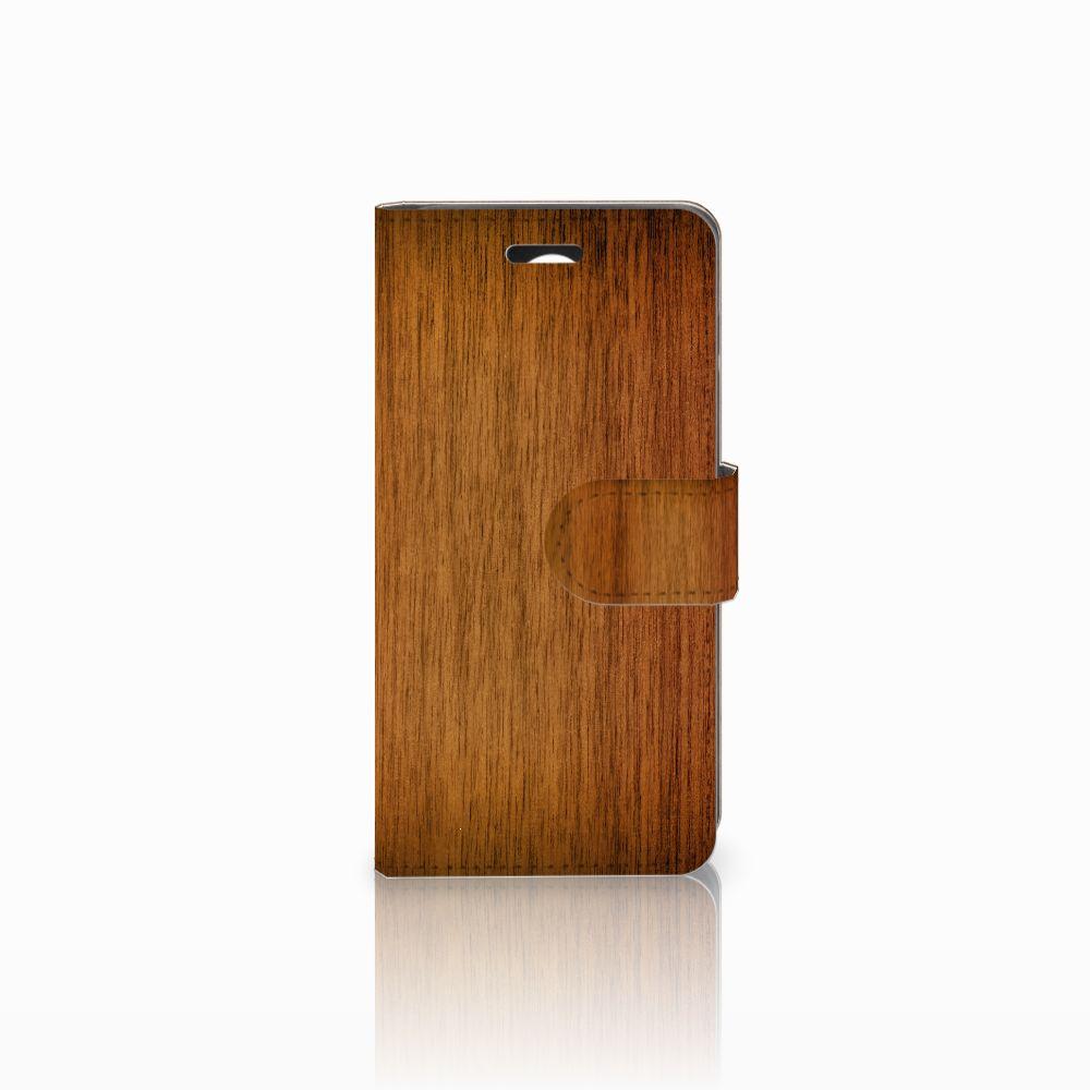 Huawei Y3 2 | Y3 II Uniek Boekhoesje Donker Hout