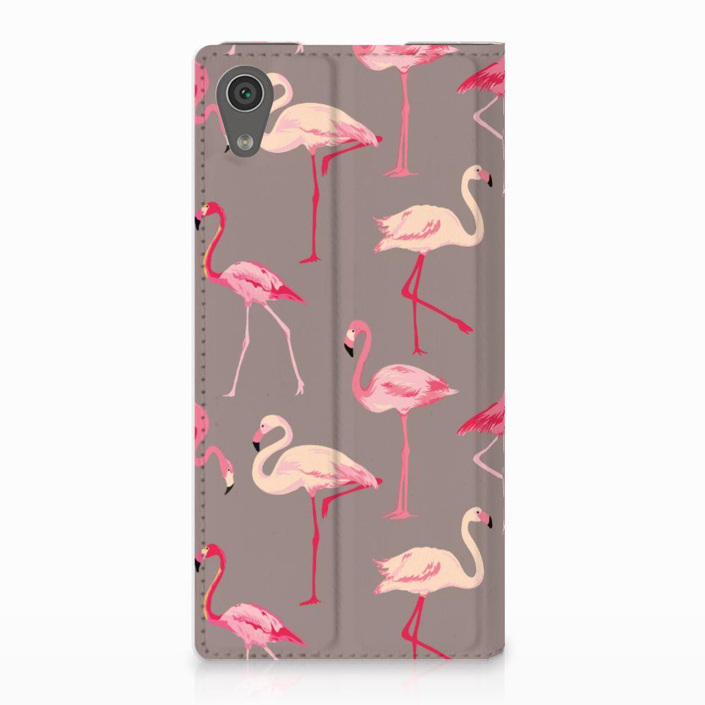 Sony Xperia XA1 Uniek Standcase Hoesje Flamingo