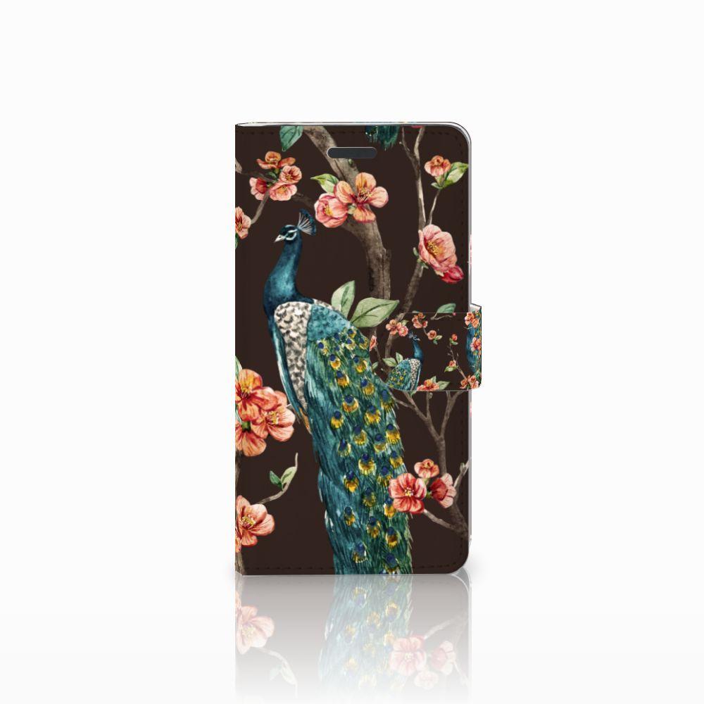 Samsung Galaxy Note 5 Boekhoesje Design Pauw met Bloemen