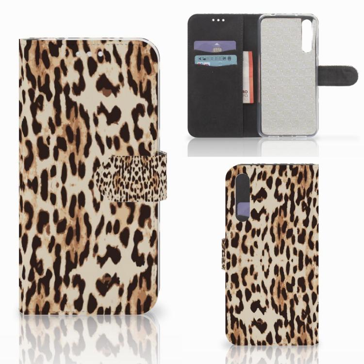 Huawei P20 Pro Telefoonhoesje met Pasjes Leopard