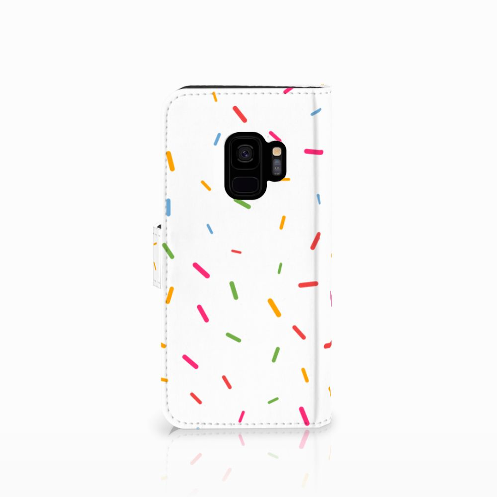 Samsung Galaxy S9 Book Cover Donut Roze