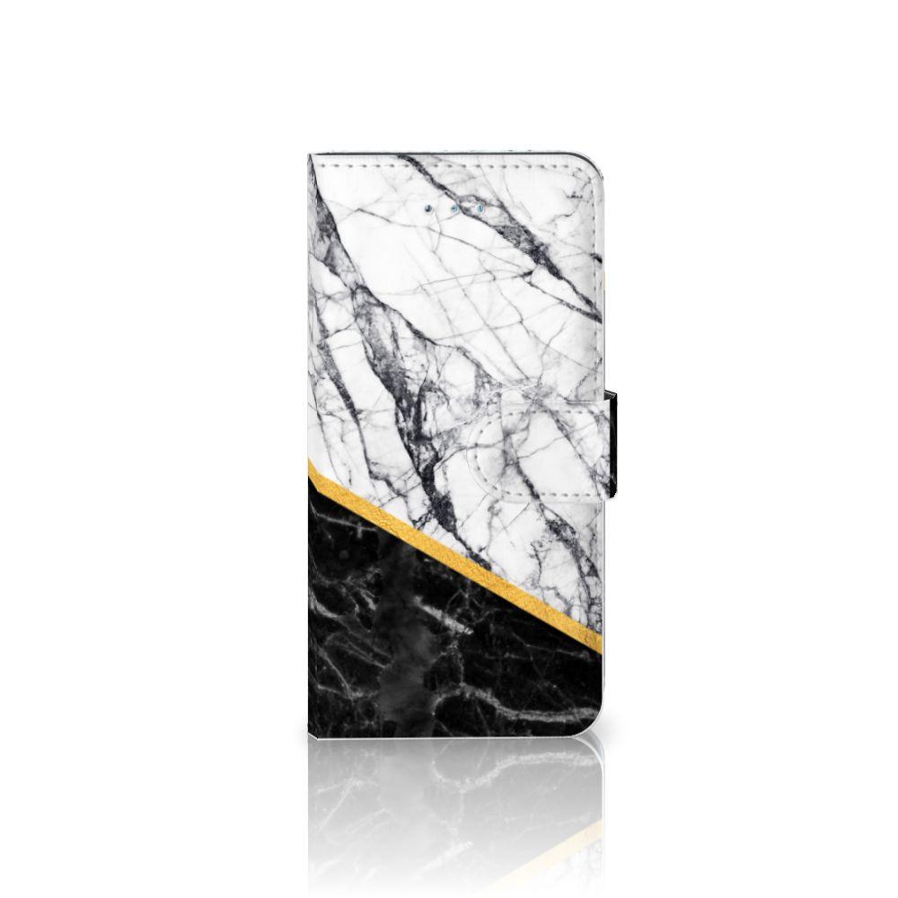 Honor 4A | Y6 Uniek Boekhoesje Marble White Black