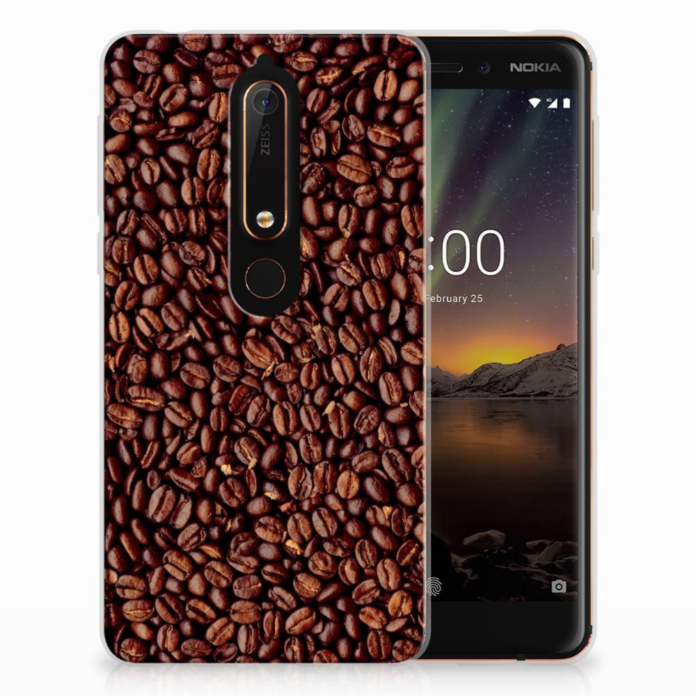Nokia 6 (2018) Siliconen Case Koffiebonen