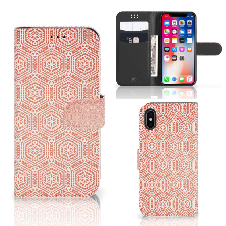 Apple iPhone X | Xs Telefoon Hoesje Pattern Orange