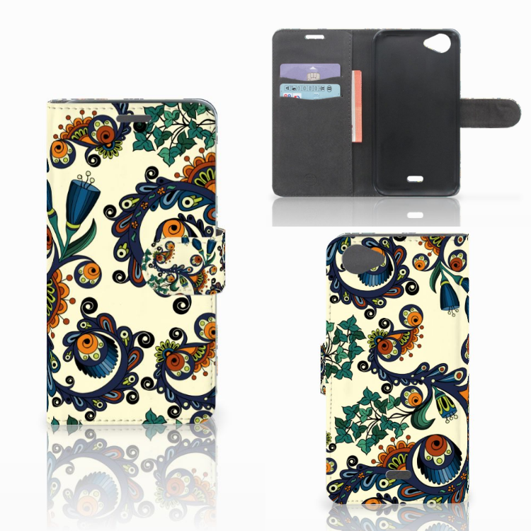 Wallet Case Wiko Rainbow Jam Barok Flower