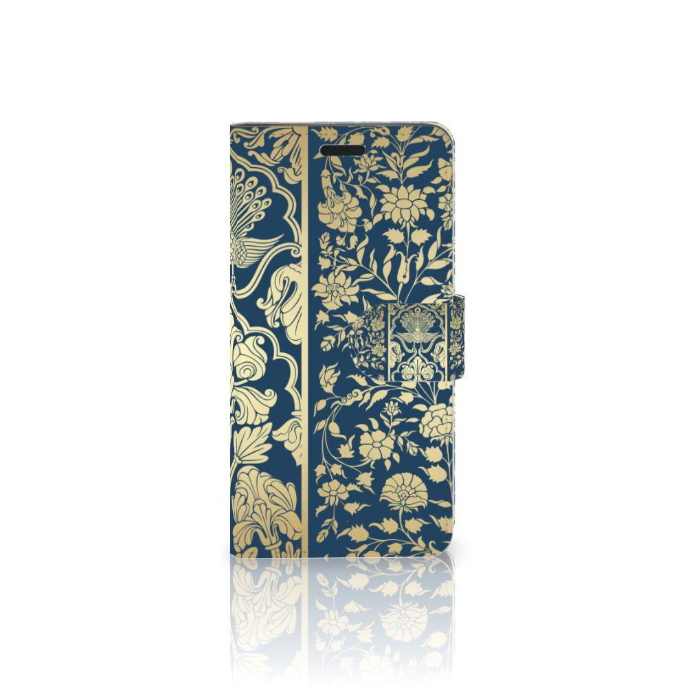 HTC 10 Uniek Boekhoesje Golden Flowers