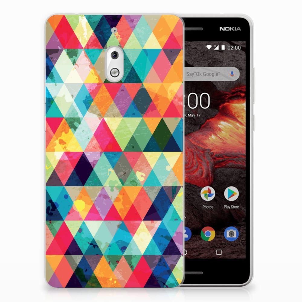 Nokia 2.1 (2018) TPU bumper Geruit