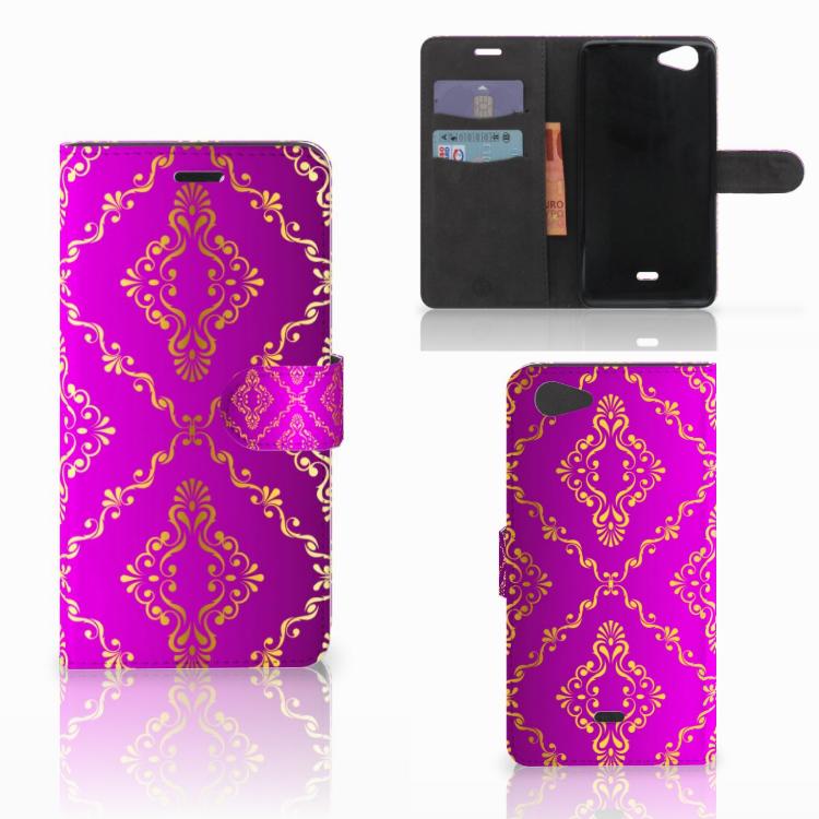 Wallet Case Wiko Pulp Fab 4G Barok Roze