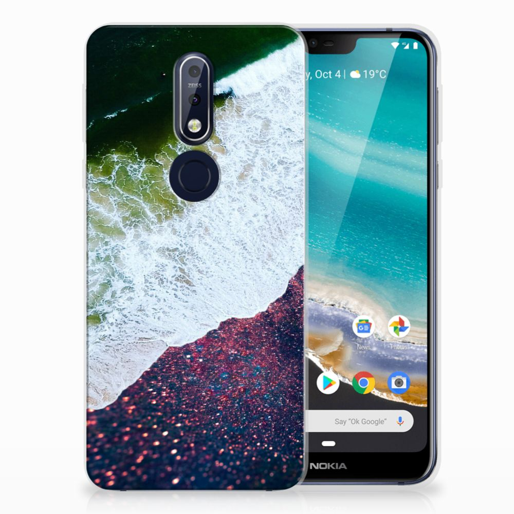 Nokia 7.1 TPU Hoesje Sea in Space