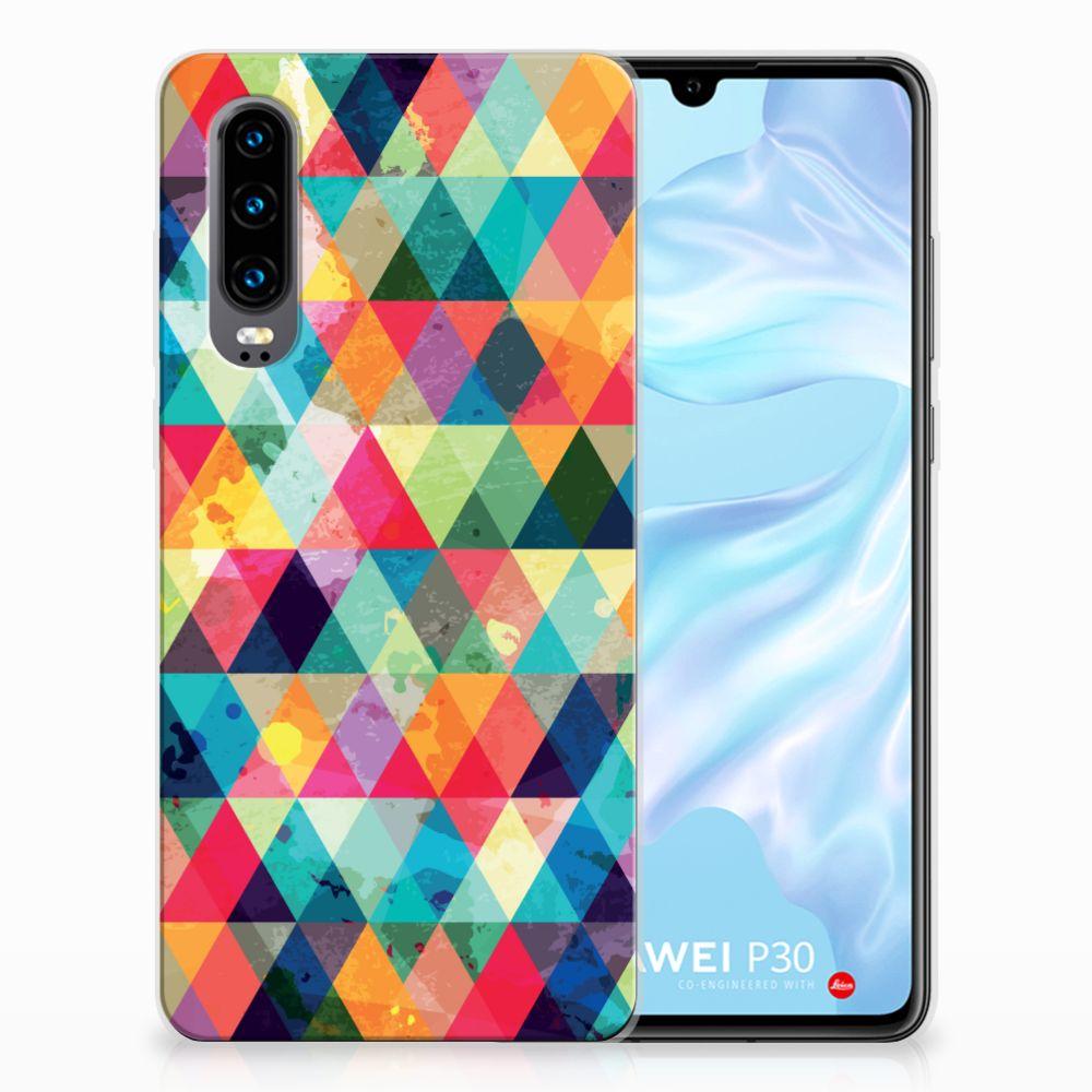 Huawei P30 Uniek TPU Hoesje Geruit