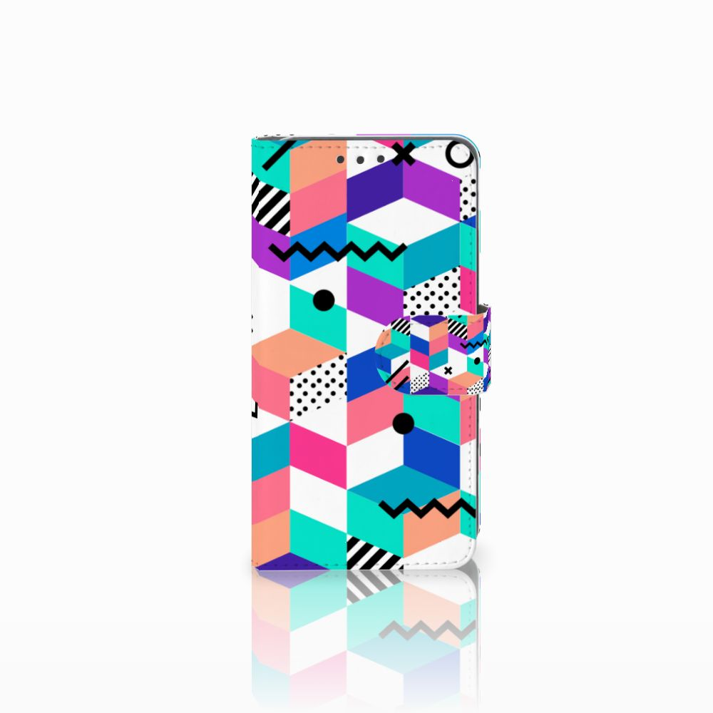 Huawei Y5 2 | Y6 II Compact Boekhoesje Design Blocks Colorful