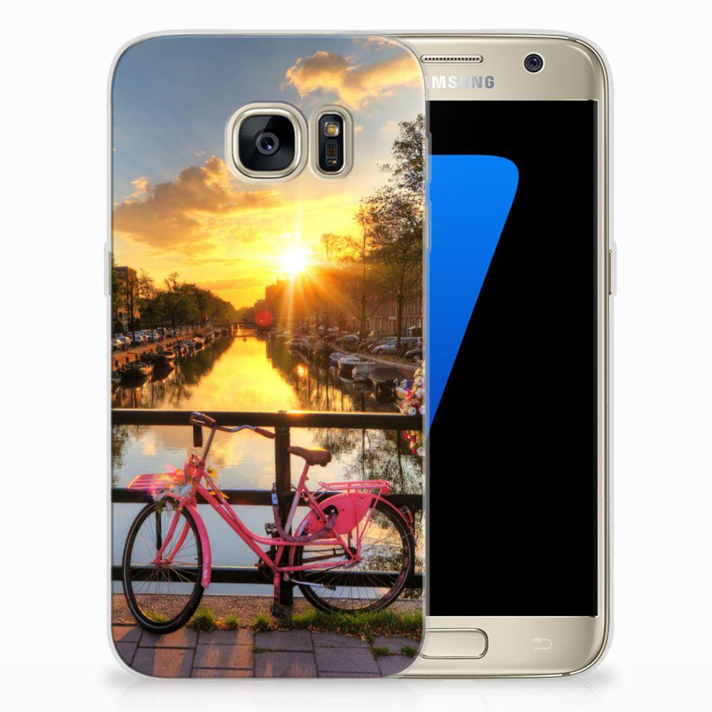 Samsung Galaxy S7 Uniek TPU Hoesje Amsterdamse Grachten