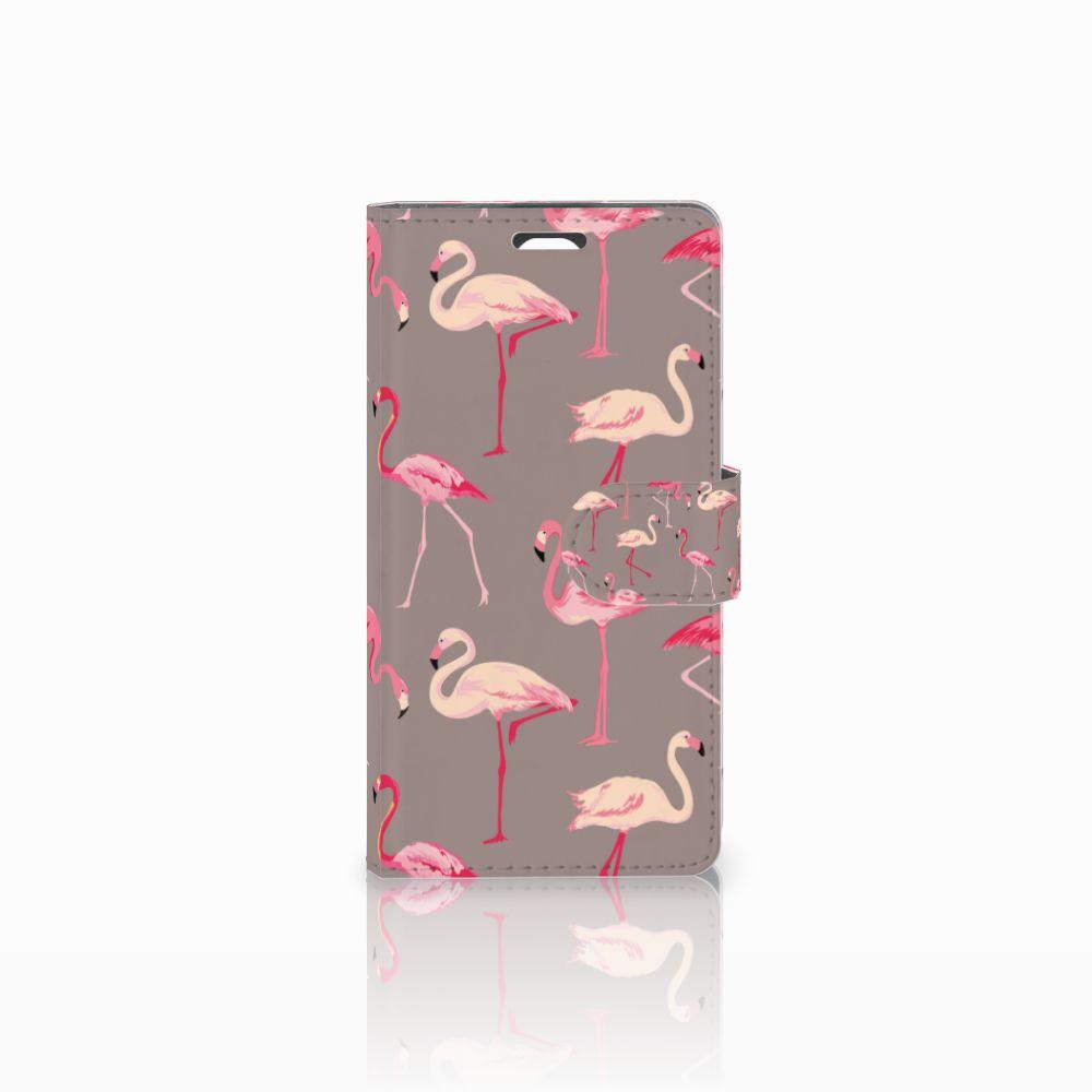LG Magna | G4C Telefoonhoesje met Pasjes Flamingo