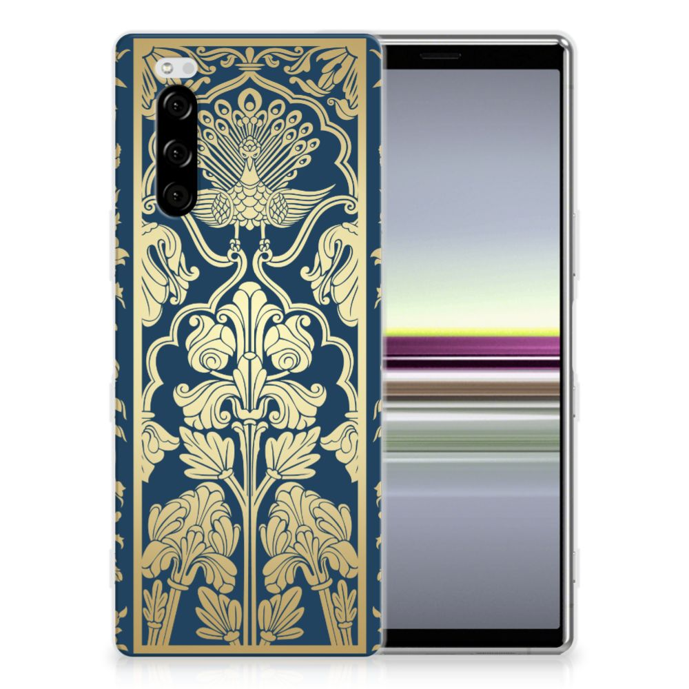 Sony Xperia 5 TPU Case Golden Flowers