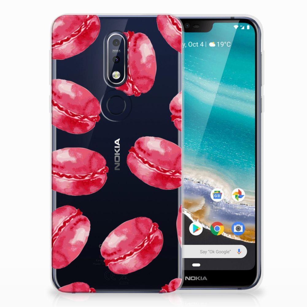 Nokia 7.1 Siliconen Case Pink Macarons