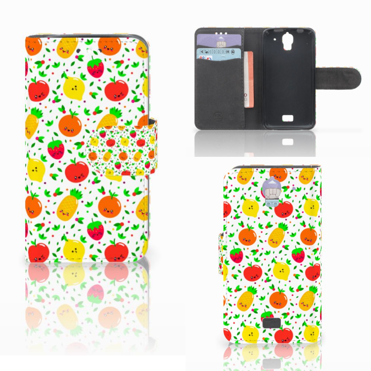 Huawei Y360 Book Cover Fruits