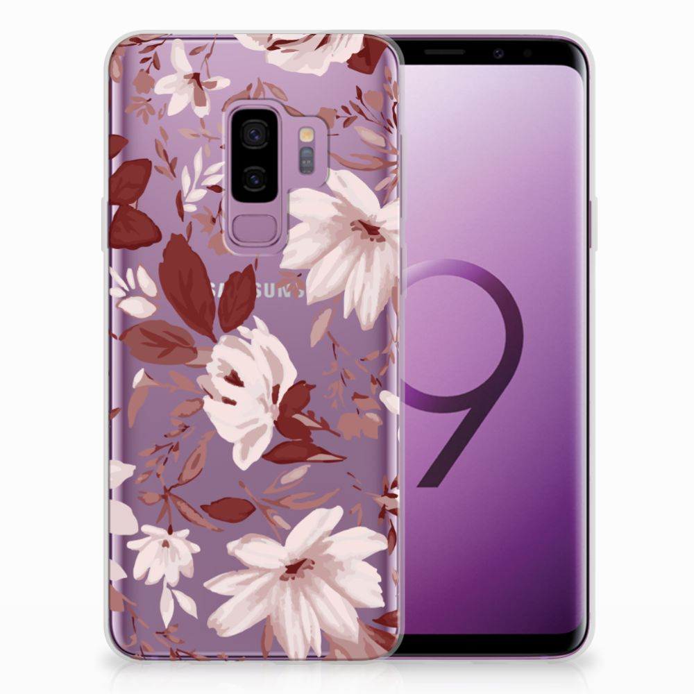 Samsung Galaxy S9 Plus Uniek TPU Hoesje Watercolor Flowers