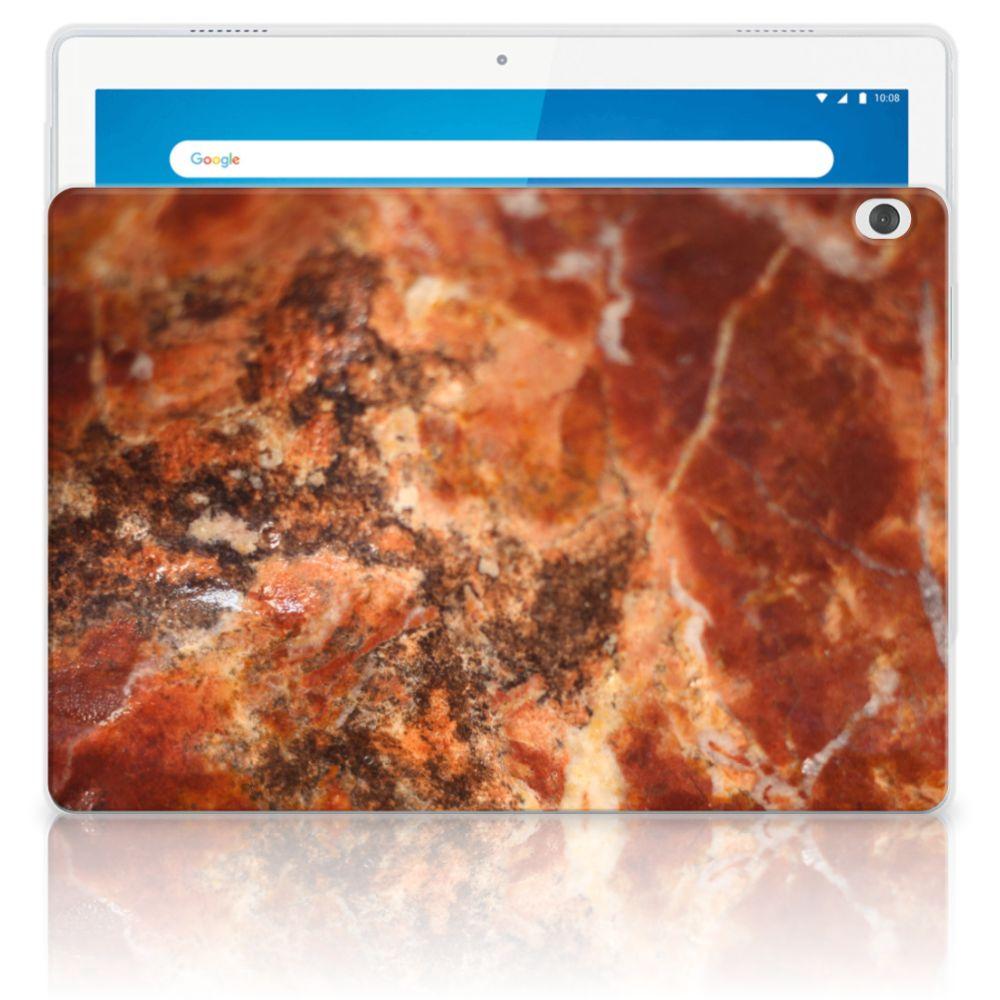 Lenovo Tab M10 Tablet Back Cover Marmer Bruin