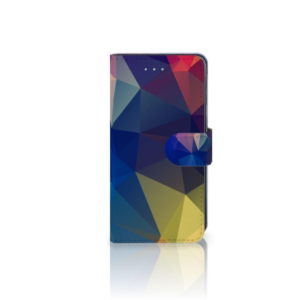Samsung Galaxy J3 2016 Uniek Boekhoesje Polygon Dark