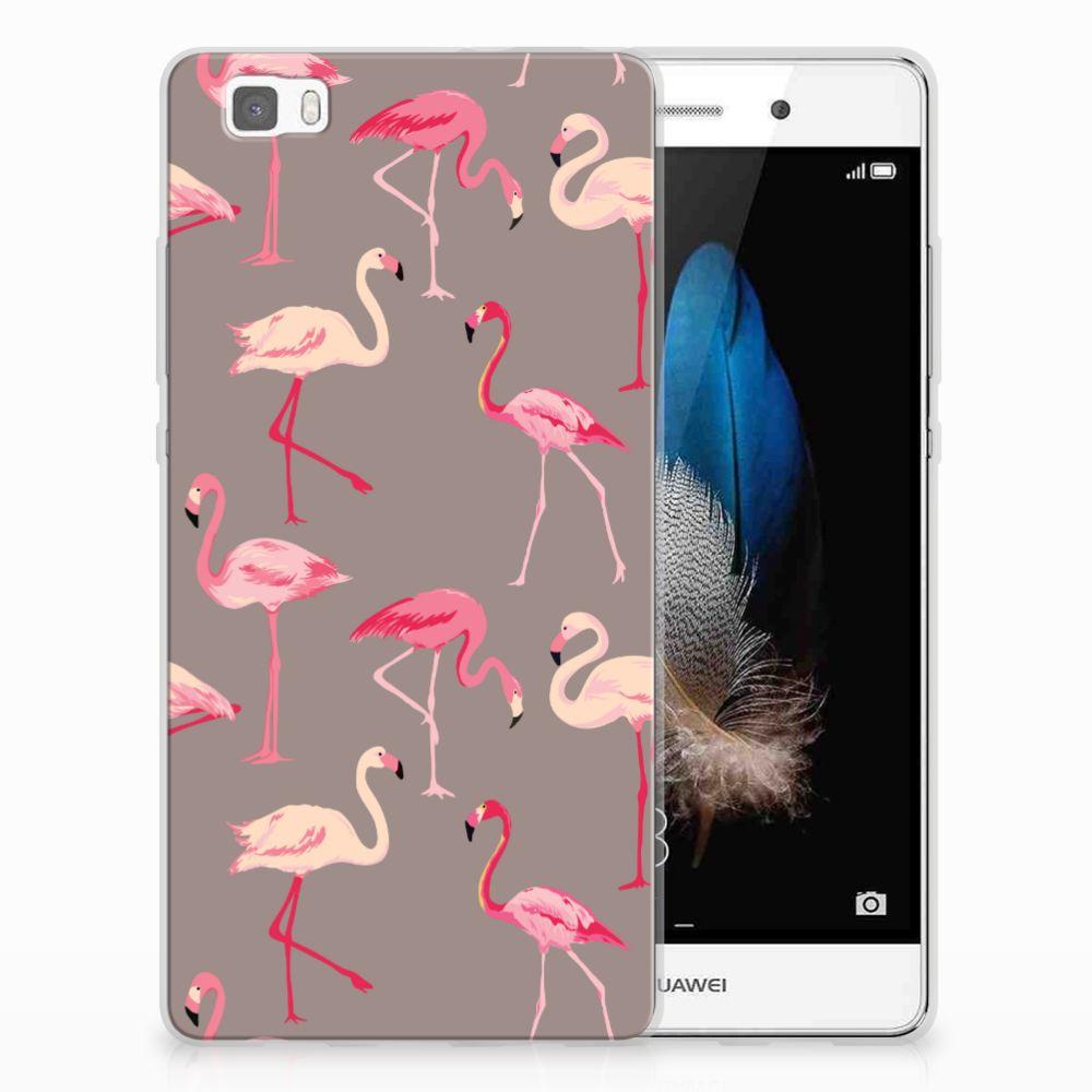 Huawei Ascend P8 Lite TPU Hoesje Flamingo