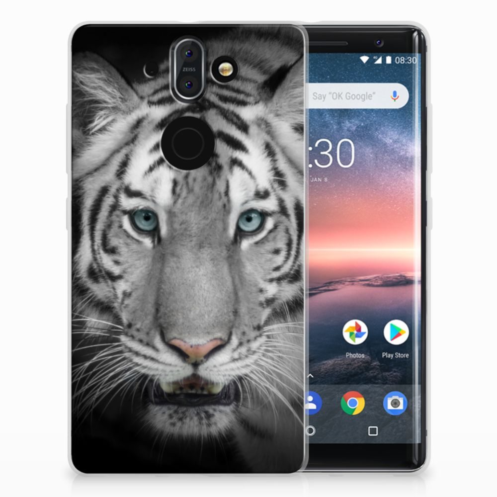 Nokia 9 | 8 Sirocco Uniek TPU Hoesje Tijger