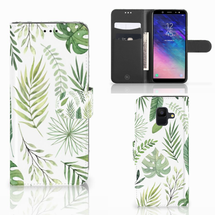 Samsung Galaxy A6 2018 Hoesje Leaves