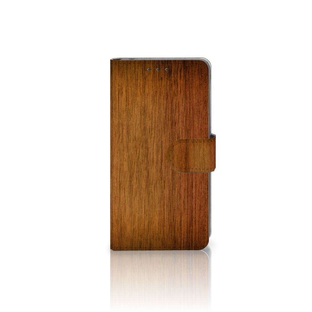 Sony Xperia Z2 Uniek Boekhoesje Donker Hout