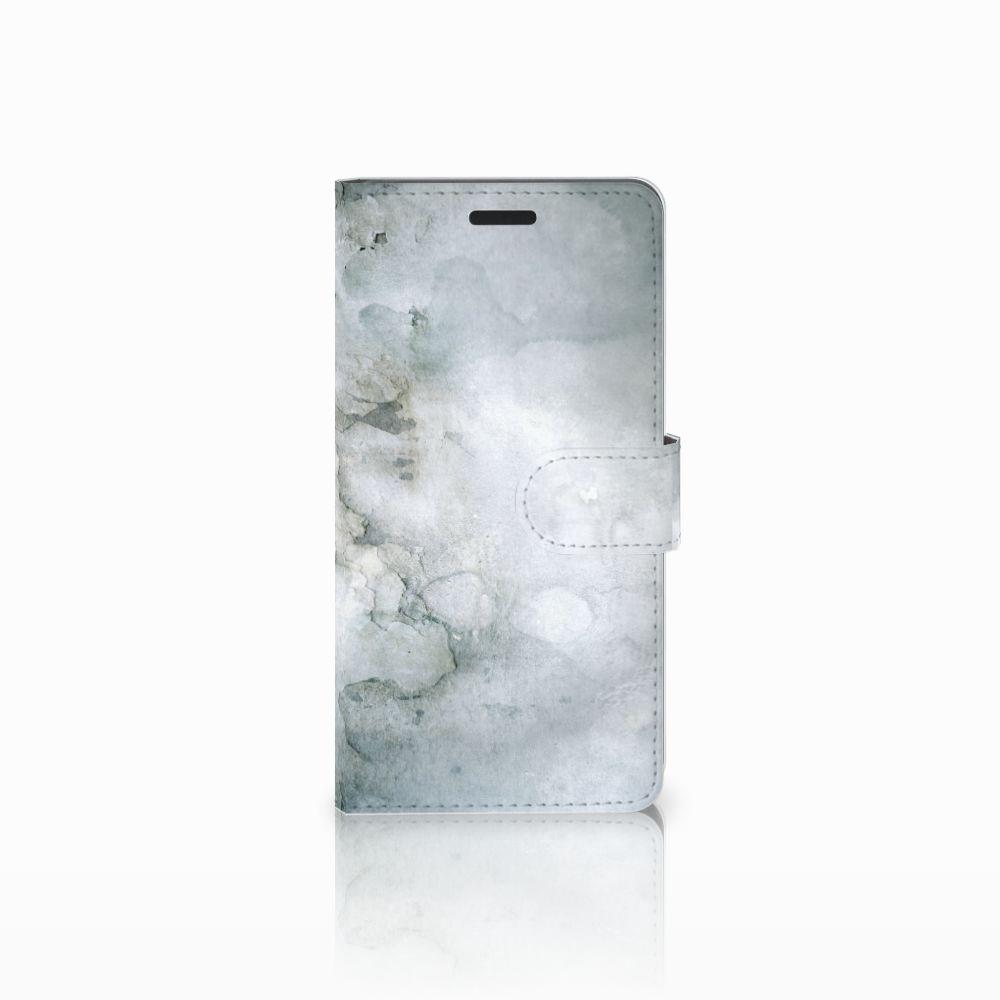 Samsung Galaxy A7 2015 Uniek Boekhoesje Painting Grey