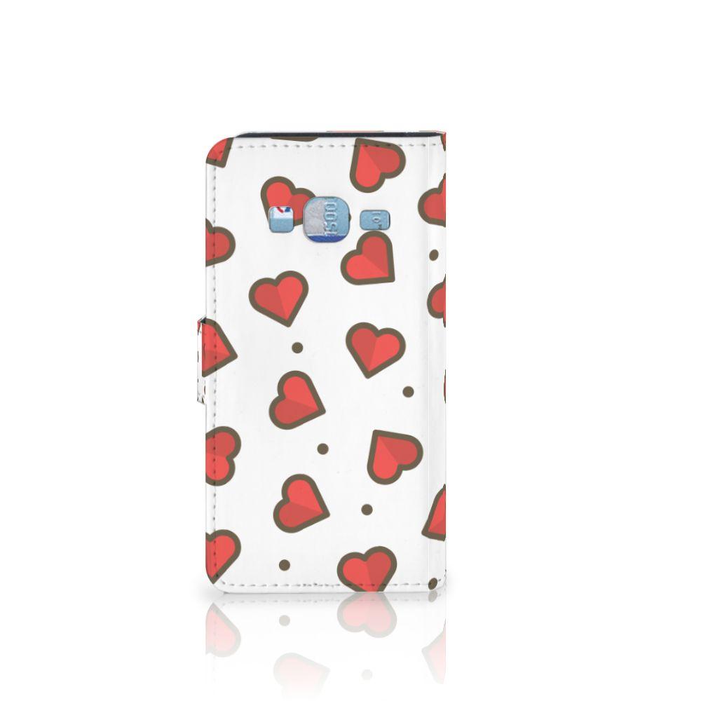 Samsung Galaxy J3 2016 Telefoon Hoesje Hearts