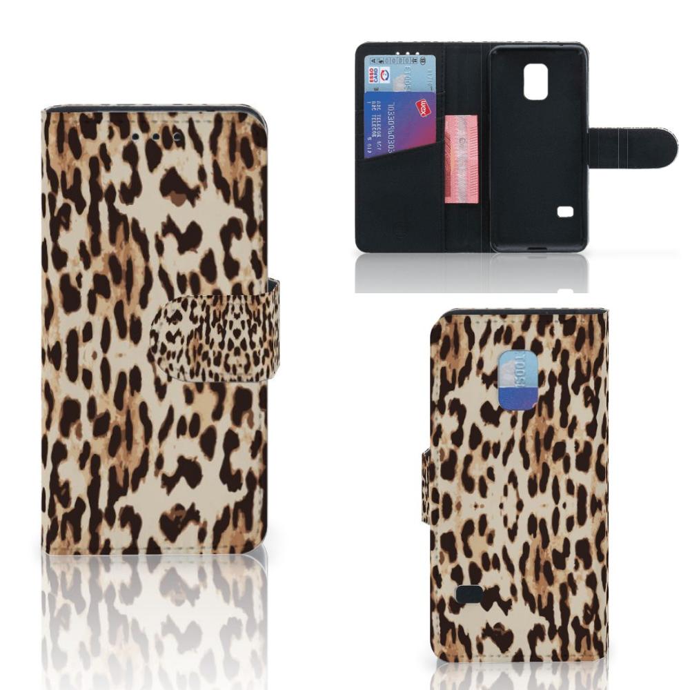 Samsung Galaxy S5 Mini Telefoonhoesje met Pasjes Leopard