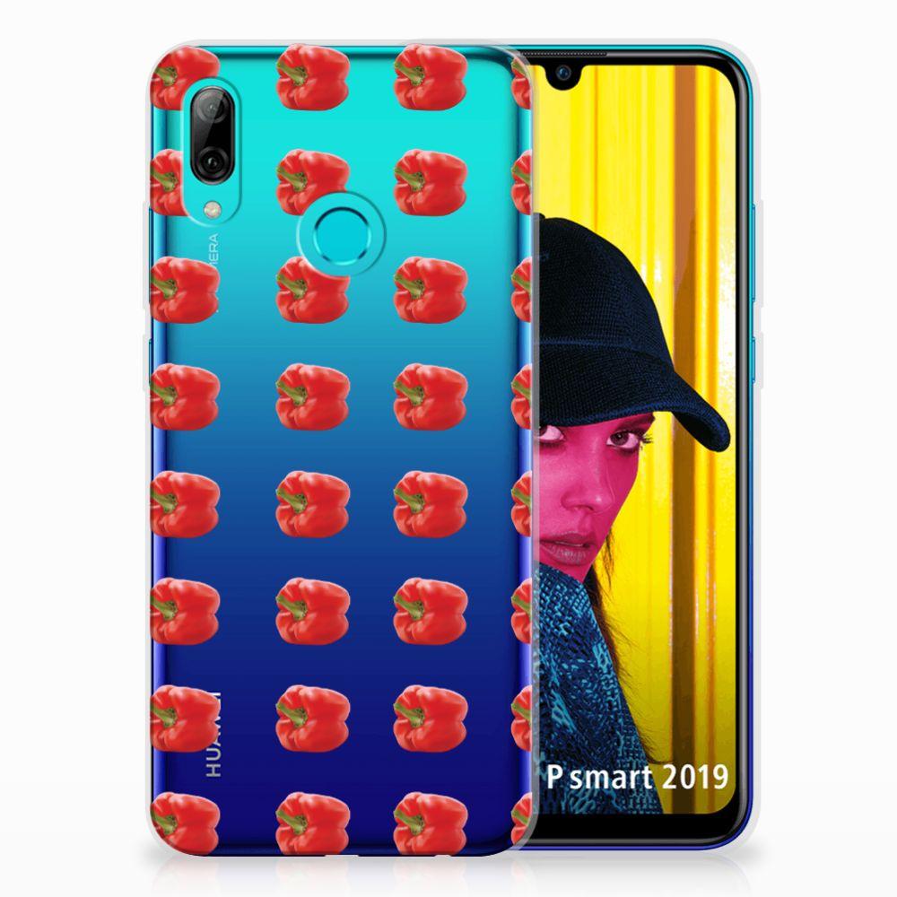 Huawei P Smart 2019 Siliconen Case Paprika Red