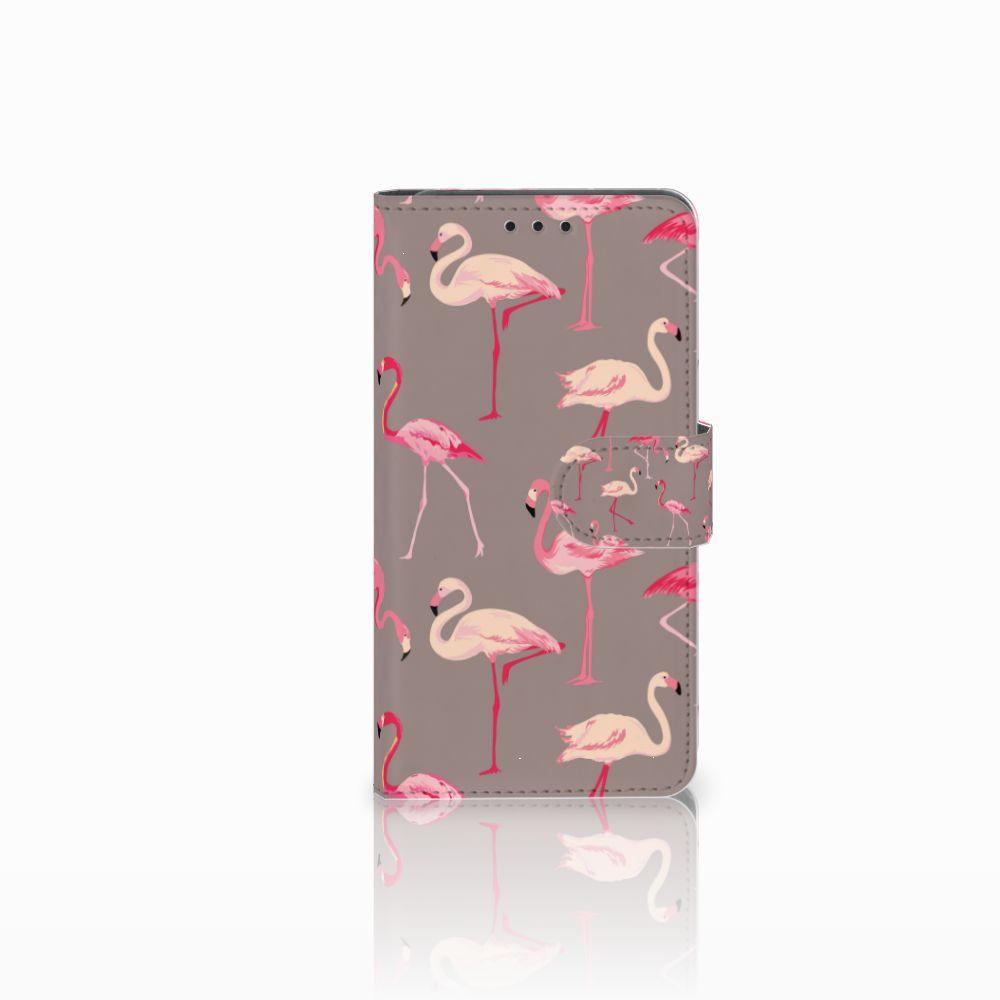 Huawei Y6 Pro 2017 Uniek Boekhoesje Flamingo