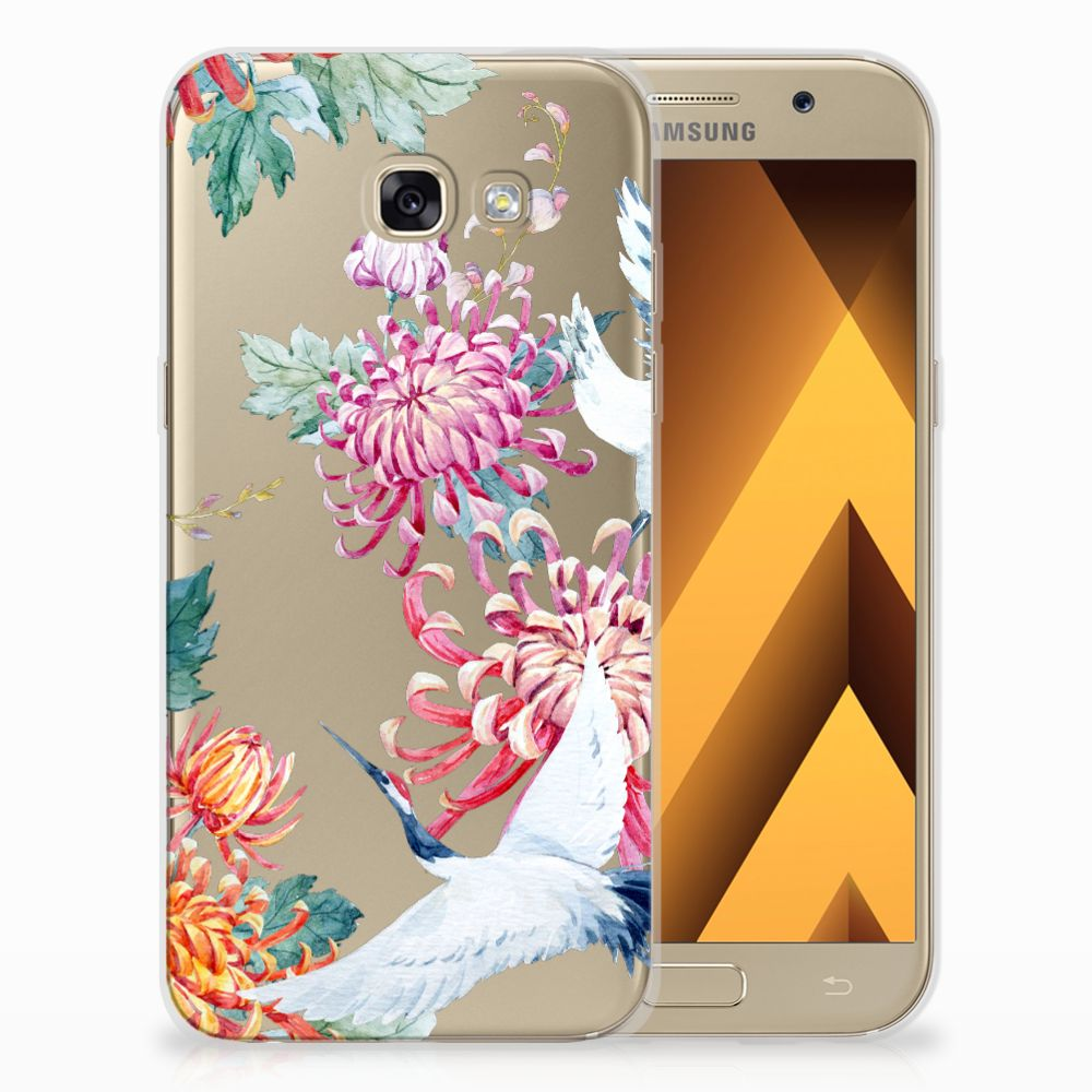 Samsung Galaxy A5 2017 Uniek TPU Hoesje Bird Flowers